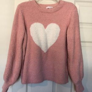 Pink teddy sweater size L